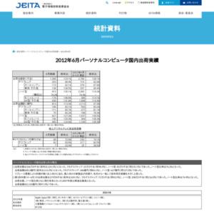 パーソナルコンピュータ国内出荷実績(2012年6月分)