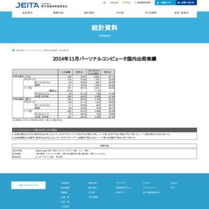 パーソナルコンピュータ国内出荷実績(2014年11月分)