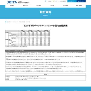 パーソナルコンピュータ国内出荷実績(2015年3月分)