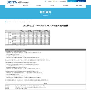 パーソナルコンピュータ国内出荷実績(2015年12月分)