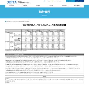 パーソナルコンピュータ国内出荷実績(2017年3月分)