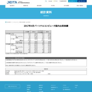 パーソナルコンピュータ国内出荷実績(2017年4月分)