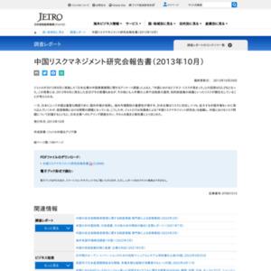 中国リスクマネジメント研究会報告書