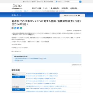 若者世代の日本コンテンツに対する意識・消費実態調査(台湾)