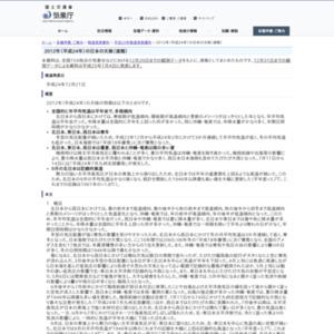 2012年(平成24年)の日本の天候(速報)
