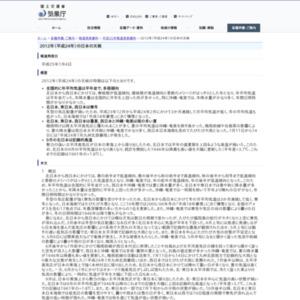 2012年(平成24年)の日本の天候