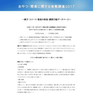 おやつ・間食に関する実態調査2017