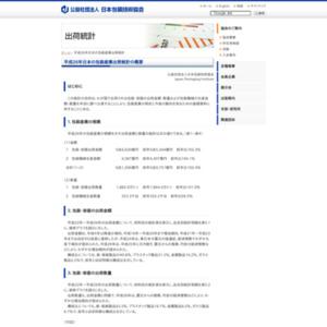 平成26年日本の包装産業出荷統計