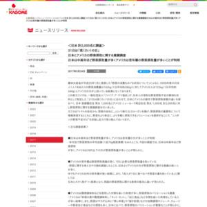 日本とアメリカの野菜摂取に関する意識調査