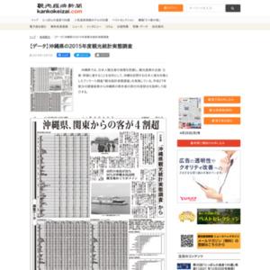 沖縄県の2015年度観光統計実態調査