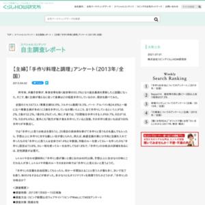 【主婦】「手作り料理と調理」アンケート(2013年/全国)