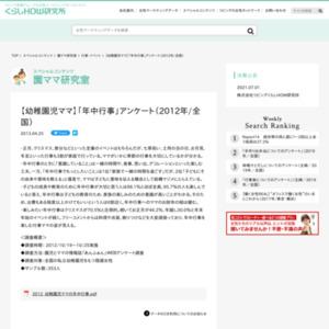 【幼稚園児ママ】「年中行事」アンケート