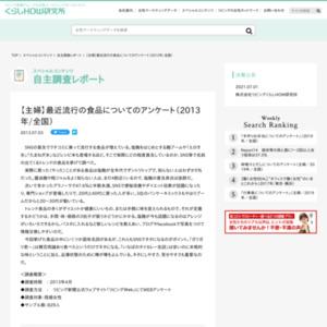 【主婦】最近流行の食品についてのアンケート(2013年/全国)