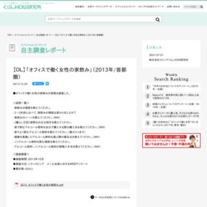 【OL】「オフィスで働く女性の家飲み」(2013年/首都圏)
