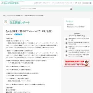 【女性】家電に関するアンケート(2014年/全国)