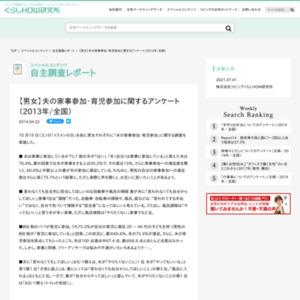 【男女】夫の家事参加・育児参加に関するアンケート(2013年/全国)