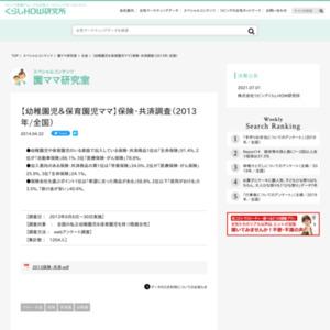 【幼稚園児&保育園児ママ】保険・共済調査(2013年/全国)