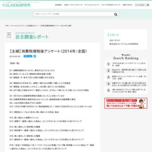 【主婦】消費税増税後アンケート(2014年/全国)