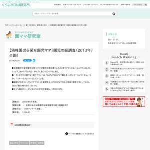 【幼稚園児&保育園児ママ】園児の服調査(2013年/全国)