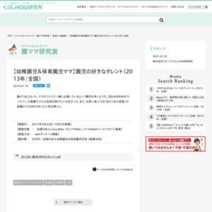 【幼稚園児&保育園児ママ】園児の好きなタレント(2013年/全国)