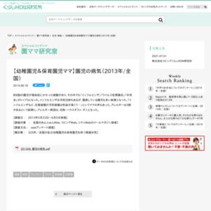 【幼稚園児&保育園児ママ】園児の病気(2013年/全国)