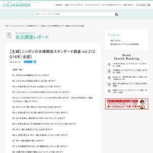 【主婦】ニッポンの夫婦関係スタンダード調査 vol.2(2014年/全国)