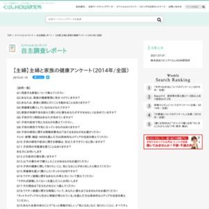 【主婦】主婦と家族の健康アンケート(2014年/全国)