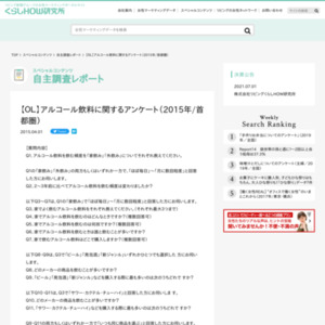 【OL】アルコール飲料に関するアンケート(2015年/首都圏)