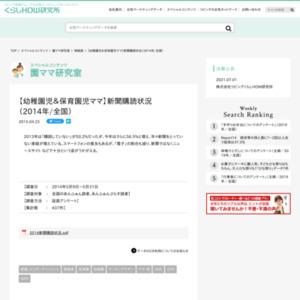 【幼稚園児&保育園児ママ】新聞購読状況(2014年/全国)