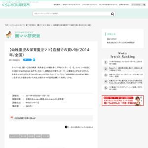 【幼稚園児&保育園児ママ】店舗での買い物(2014年/全国)