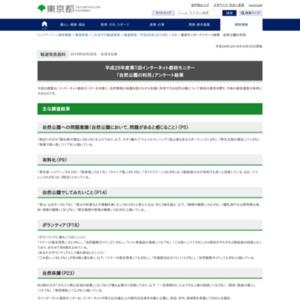 平成28年度第1回インターネット都政モニター 「自然公園の利用」アンケート