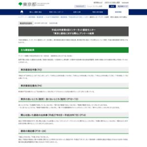 平成28年度第4回インターネット都政モニター 「東京と都政に対する関心」アンケート