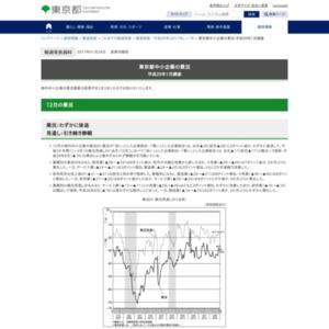 東京都中小企業の景況 平成29年1月調査