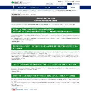 平成28年度東京都福祉保健基礎調査 『都民の生活実態と意識』