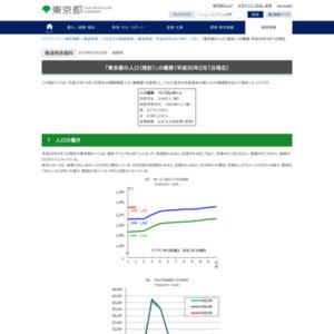 「東京都の人口(推計)」の概要-平成30年2月1日現在