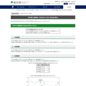 東京都工業指数(平成29年12月分・第4四半期分)