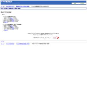平成24年賃金事情等総合調査(確報)