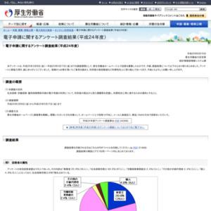電子申請に関するアンケート調査結果(平成24年度)