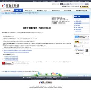 保育所待機児童数(平成24年10月)