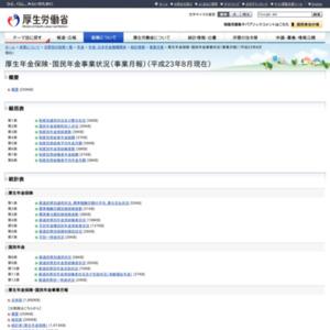 厚生年金保険・国民年金事業状況(事業月報)(平成23年8月現在)
