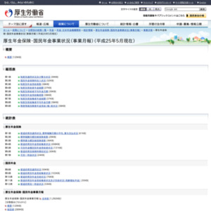 厚生年金保険・国民年金事業状況(事業月報)(平成25年5月現在)