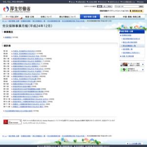 労災保険事業月報(平成24年12月)