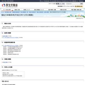 福祉行政報告例(平成23年12月分概数)
