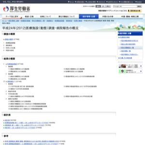 平成24年(2012)医療施設(動態)調査・病院報告の概況