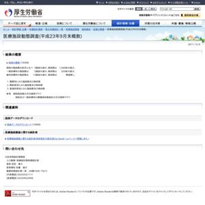 医療施設動態調査(平成23年9月末概数)