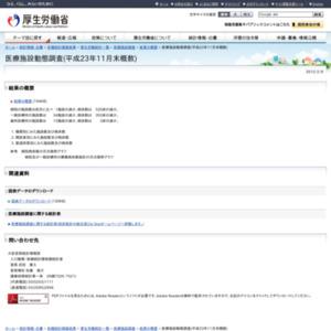 医療施設動態調査(平成23年11月末概数)