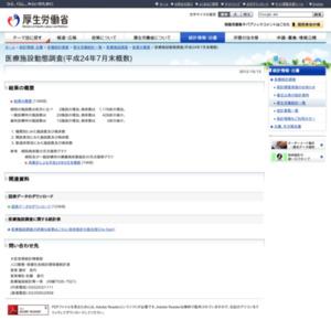医療施設動態調査(平成24年7月末概数)