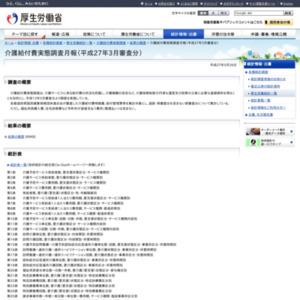 介護給付費実態調査月報(平成27年3月審査分)