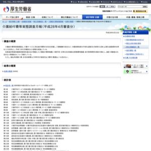 介護給付費等実態調査月報(平成28年4月審査分)