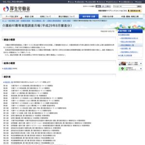 介護給付費等実態調査月報(平成29年8月審査分)